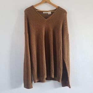 Vintage Claiborne knit oversized v-neck sweater L